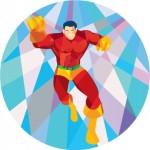 Superhero Running Punching Low Polygon by vectorolie - www.freedigitalphotos.net